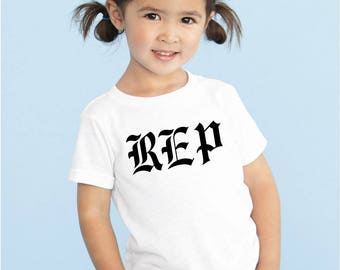 Toddler White New Taylor Swift Reputation REP Only Graphic T-Shirt Shirt Fashion Tee - Free Shipping