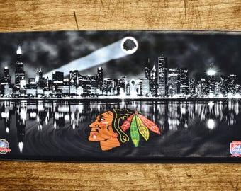Custom Chicago Blackhawks Banner