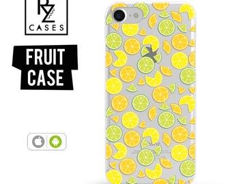 Lemon Phone Case, Summer Case, Lemon iphone Case, Fruit Phone Case, iPhone 7, iPhone 6, iPhone 7 Plus, iPhone 6 plus, Samsung Galaxy Case