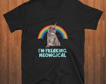 I'm Freaking Meowgical T-shirt Unicorn cat