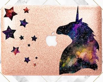 Unicorn case Sparkly Macbook case Macbook case air Glitter case for macbook Rose gold glitter Rose gold glitter case Glitter case