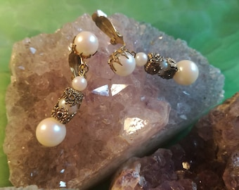 Earclip, Earclip, vintage, beads