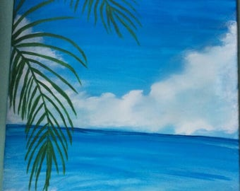 A day at the beach Canvas Art