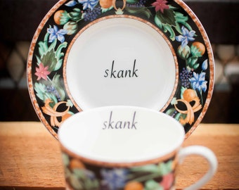 Skank | vulgar vintage teacup and matching saucer