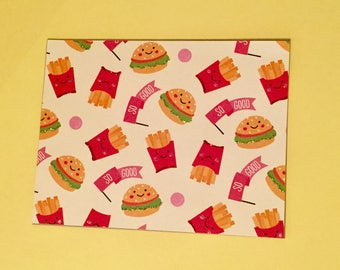 Burgers and Fries Notecards