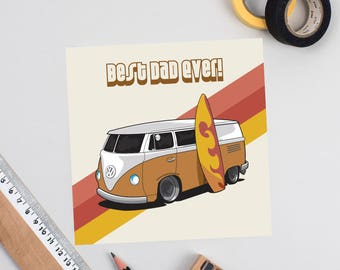 Father's Day Volkswagen Camper Card