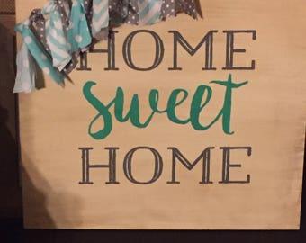 Home sweet home sign homemade