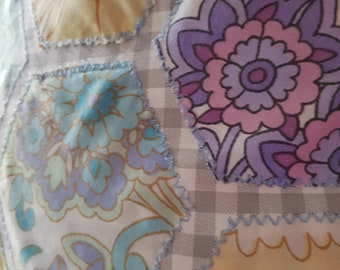 Vintage patchwork cushion