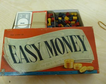 Vintage Milton Bradley EASY MONEY Property Trading Board Game