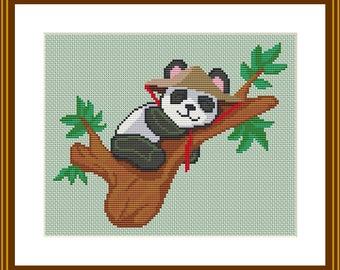 panda cross stitch pattern pdf download