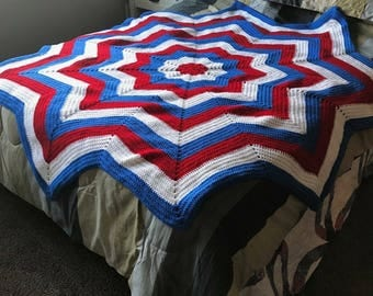 Patriotic Star Afghan