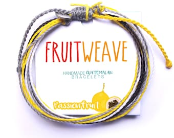 PASSION FRUIT STRING bracelet, Guatemalan Bracelets, Handmade bracelets, colorful bracelets, fruit based, fruit weave, friendship bracelets.