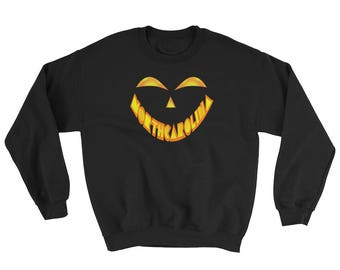 North Carolina Jack O' Lantern Pumpkin Face Halloween Costume Sweatshirt