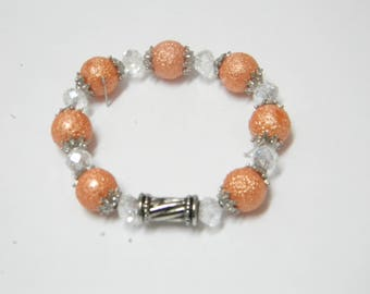 Stippled fantasy pink bracelet