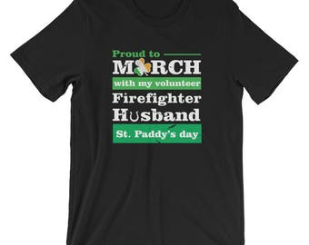 st patricks parade/ firefighter wife hoodie/ firefighters/ st patricks day/ firefighter gift/ firefighter family/ firefighter Boyfriend / Sh