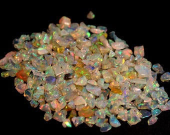 10 CARATS AAA++ Natural Ethiopian Opal Multi Fire Polish Rough Size- 3 mm To 7 mm Approx Opal Rough Lot
