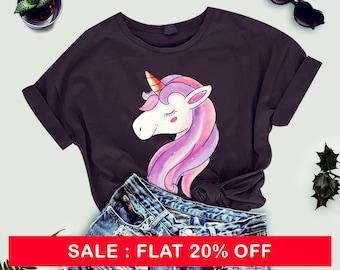 Unicorn tshirt women - cute tshirt for women - unicorn tees - unicorn tee shirt - ladies tshirt - women tshirt - tops - unicorn gift