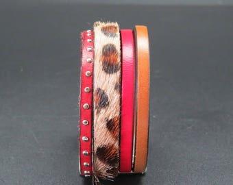 Leather Cuff Bracelet bronze Eugenie