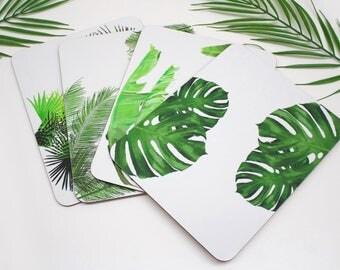 Tropical Placemats | Tabletmat set | Jungle Placemat | Table Setting | Modern Home | Flower Placemats | Place mat | Tropial leaf placemat