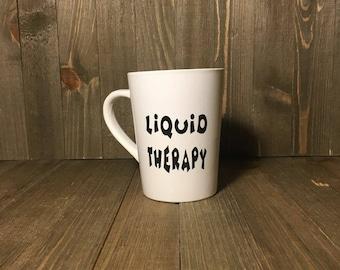 Liquid Therapy 14 oz Coffee Tea Cocoa mugs unique personalized customize mugs gifts under 20.00