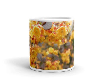 Yellow Wildflowers Ceramic Mug