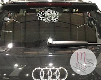 Dog Dad/Mum Vinyl Car window sticker, decal, vinyl, window, sticker