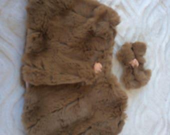 faux fur cape