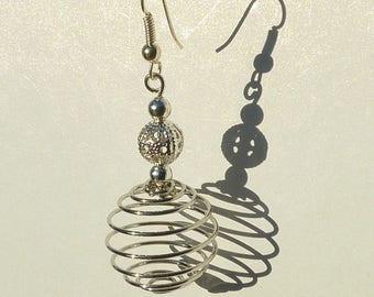 """Jewelry earrings Silver """"silver ball"""""""