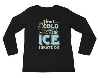Sarcastic Hearth Cold As Ice Skating Vintage Graphic Longsleeve