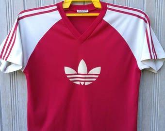 Vintage Adidas Trefoil Big Logo TShirt Jersey