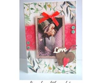 3D card - Love - wedding