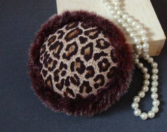 fascinator leopard with fur