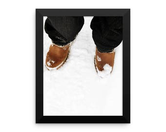 NY Winter // Winter // Snow // Boots // Framed poster