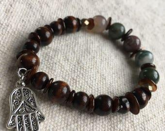 Beaded meditation bracelet 'Jupiter'.