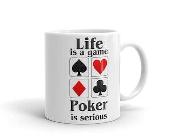 Poker player gift, Poker Mug, Poker player cup, Poker player coffee mug, Poker coffee mug, Poker coffee cup, Poker player mug, Poker gift