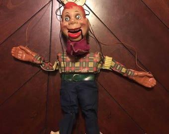 1950's Vintage Howdy Doody Marionette Doll-Excellent Condition