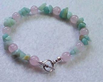 Beautiful handmade gemstones bracelet