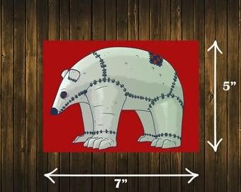 Stitchimals - Stitched Polar Bear Print!