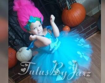 Poppy Troll tutu costume dress