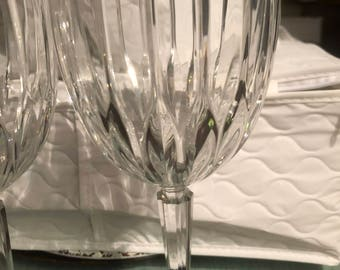 Heavy crystal water goblet