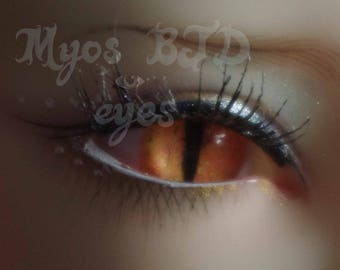 14mm Neon yellow/orange snake acrylic eyes