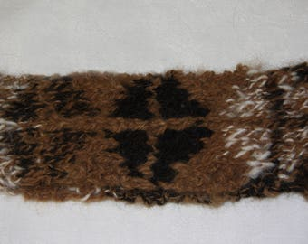 Alpaca headband, handspun, handknitted