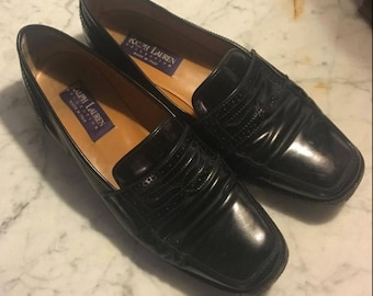 Ralph Lauren purple label made in Italy loafer shoes
