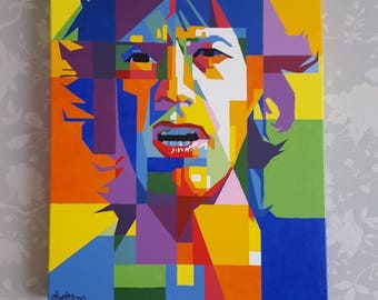 Abstract painting by myself of Mick Jagger.