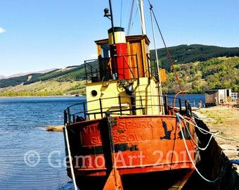Photo Print - Puffer at Inveraray, Scotland