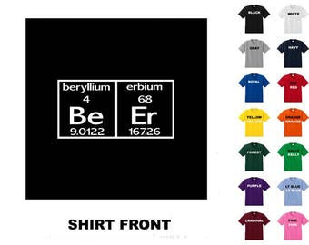 BEER #17 Science Periodic Table T-shirt Free Shipping