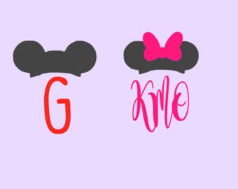 Custom Mickey/Minnie Ears Inspired Decal