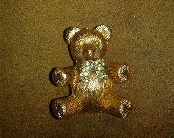 Vintage Max Factor Teddy Bear Solid Perfume Compact