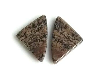 Honey Dendritic Fancy Pair Cabochon,Size- 25x15 MM, Natural Honey Dendritic, AAA,Quality  Loose Gemstone, Smooth Cabochons.