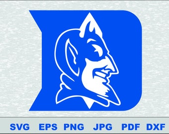 Duke Blue Devils  SVG DXF PNG Logo Silhouette Studio Transfer Iron on Cut File Cameo Cricut